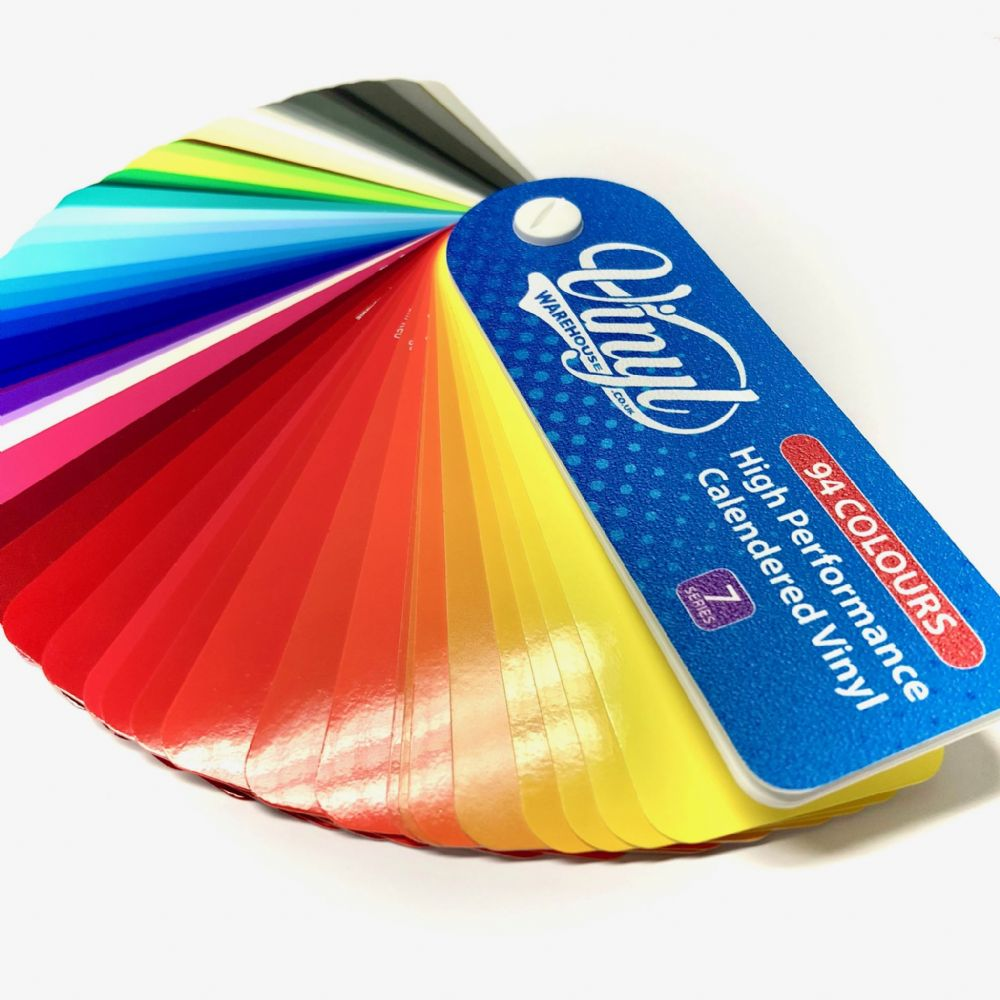7 SERIES COLOURED VINYL *GLOSS SWATCH - 93 COLOURS